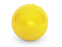 Big yellow ball for fitness detail Royalty Free Stock Photos