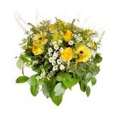 Big yellow bouquet stock image