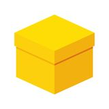 Big yellow box Royalty Free Stock Image