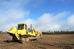 Bulldozer at construction site stock photos
