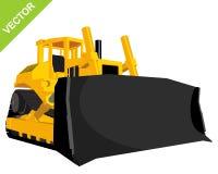 Big yellow bulldozer Stock Images