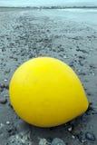 Big yellow buoy Stock Photo