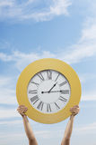 Big Yellow Clock Stock Photography