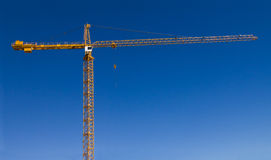 Big Yellow Construction Crane Royalty Free Stock Images