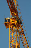 Big yellow crane in Montreal, Canada Royalty Free Stock Photography