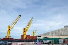 Big Yellow Crane royalty free stock images