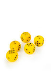 Big are yellow dice Stock Photography
