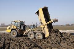 Big yellow dumper truck Stock Photography