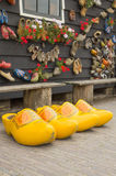 Big Yellow Dutch Clogs Stock Photography