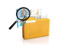 Big yellow folder Royalty Free Stock Photos