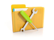 Big yellow folder Stock Image