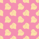 Big Yellow Hearts on Pink Background Seamless Pattern Royalty Free Stock Photography