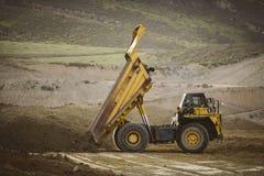 Big yellow mining truck. royalty free stock photo