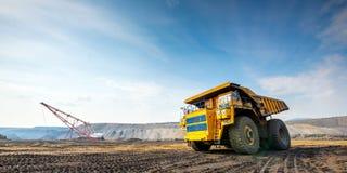 Big yellow mining truck Royalty Free Stock Photography