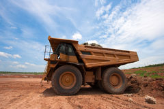 Big yellow mining truck Royalty Free Stock Images