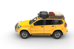 Big Yellow Modern SUV Stock Photography