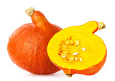 Big yellow pumpkin Stock Photo
