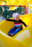 The Big Yellow Slide Royalty Free Stock Images