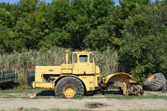 Big yellow tractor Royalty Free Stock Images