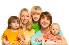 Big young family Royalty Free Stock Photos