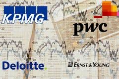 Big4 de Firma's van de Boekhouding Stock Afbeeldingen