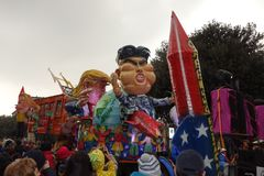 Biga alla parata di carnevale della città di Verona Fotografie Stock Libere da Diritti