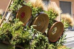 Biga decorada com cestas de vime Foto de Stock Royalty Free