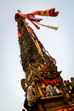 Biga della processione di Rato Machhindranath della pioggia in Patan, Nepal Fotografia Stock Libera da Diritti