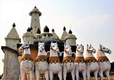 A biga do Sun fora de um templo de Sun na Índia de Ranchi imagem de stock royalty free