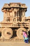 Biga in tempio di Vittala a Hampi Fotografie Stock