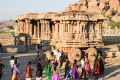 Biga in tempio di Vittala a Hampi Fotografia Stock