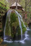 Bigar Cascade Falls in Beusnita Gorges National Park, Romania royalty free stock images