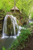 Bigar Cascade Falls in Beusnita Gorges National Park, Romania Stock Images