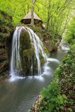 Bigar Cascade Falls in Beusnita Gorges National Park, Romania Royalty Free Stock Image