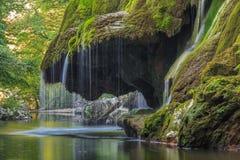 Bigar Cascade Falls in Nera Beusnita Gorges National Park, Romania. Stock Photography