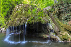 Bigar Cascade Falls in Nera Beusnita Gorges National Park, Romania. Royalty Free Stock Image