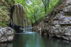 Bigar Cascade Falls in Nera Beusnita Gorges National Park, Romania. Stock Photo