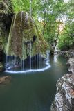 Bigar Cascade Falls in Nera Beusnita Gorges National Park, Romania. Royalty Free Stock Images