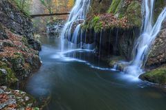 Bigar Cascade Falls in Nera Beusnita Gorges National Park, Romania Royalty Free Stock Photos