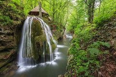 Bigar Cascade Falls in Nera Beusnita Gorges National Park, Romania Stock Images