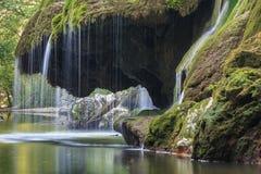 Bigar Cascade Falls in Nera Beusnita Gorges National Park, Romania Stock Images