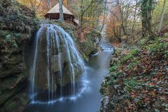 Bigar Cascade Falls in Nera Gorges, Romania Stock Image