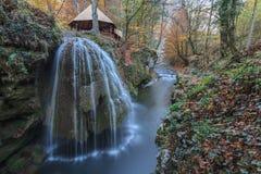 Bigar Cascade Falls in Nera Gorges, Romania stock image