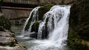 Bigar romania waterfall stock video footage