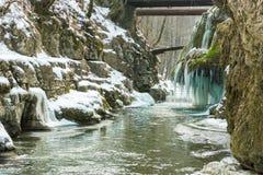 Bigar-Wasserfall eingefroren Lizenzfreies Stockbild