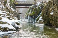Bigar-Wasserfall eingefroren Stockbild
