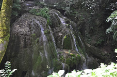 Bigar Waterfall at 45 Parallel from Caras-Severin in Romania Royalty Free Stock Images