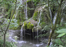 Bigar Waterfall at 45 Parallel from Caras-Severin in Romania Stock Photo