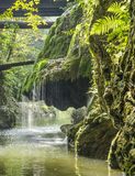 Bigar Waterfall. Was declared a natural protected area in the Caraș-Severin County, Banat Mountains, Romania Royalty Free Stock Photography