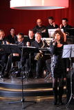 Bigband Twello female singer performing Royalty Free Stock Photography